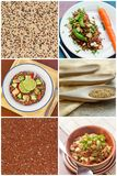 Collage de salade de quinoa Images stock