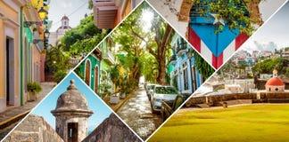 Collage de San Juan viejo, Puerto Rico imagen de archivo libre de regalías