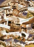 Collage de señales de Roma, Italia Imagenes de archivo
