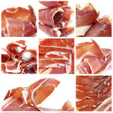 Collage de serrano de Jamon Photographie stock libre de droits