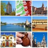 Collage de Sevilla Fotografía de archivo libre de regalías