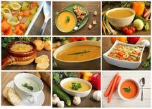 Collage de soupe Photographie stock libre de droits