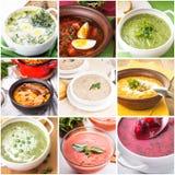 Collage de soupe Image stock