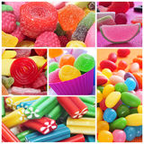 Collage de sucreries Photographie stock libre de droits