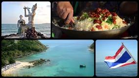 Collage de Tailandia almacen de video
