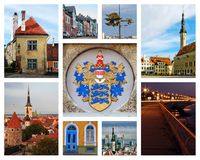 Collage de Tallinn Imagen de archivo libre de regalías