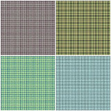 Collage de tartan de plaid 4 images Photo stock