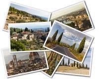 Collage de Toscana Foto de archivo libre de regalías