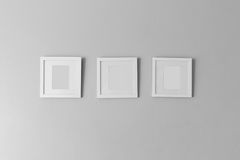 Collage de trois cadres blancs de photo Photos stock