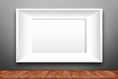 Collage de trois cadres blancs de photo Photos libres de droits
