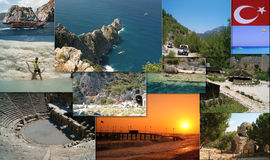 Collage de Turquía Fotografía de archivo