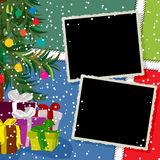 Collage de vacances d'hiver Image libre de droits