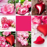 Collage de Valentines Photographie stock