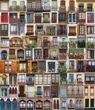 Collage de varias ventanas Foto de archivo libre de regalías