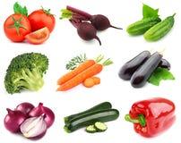 Collage de verduras frescas imagenes de archivo