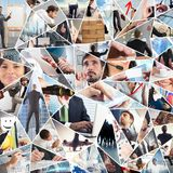 Collage de vie d'entreprise photographie stock libre de droits