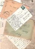 Collage de viejas cartas fotos de archivo libres de regalías