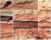 Collage de vieux fond en bois de poire Photographie stock libre de droits