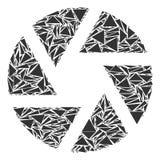 Collage de volet des triangles illustration de vecteur