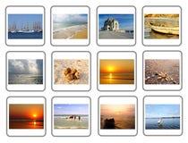 Collage de voyage de ville de Constanta en Roumanie photographie stock
