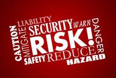 Collage de Word de sécurité de sécurité de danger de risque illustration de vecteur