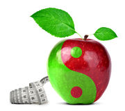 Collage de Yin Yang de la manzana imagen de archivo