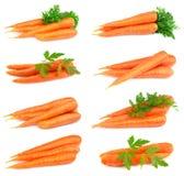 Collage de zanahorias dulces Foto de archivo