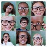 Collage degli allievi sorridenti Fotografie Stock Libere da Diritti