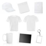 Collage degli oggetti bianchi Immagini Stock