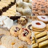 Collage dei biscotti di Natale Fotografia Stock Libera da Diritti