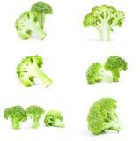 Collage dei broccoli verdi freschi Immagini Stock