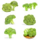 Collage dei broccoli verdi freschi su un fondo Immagine Stock Libera da Diritti