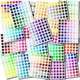 Collage dei campioni di colore Fotografia Stock