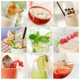 Collage dei cocktail Immagine Stock