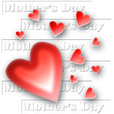 Collage dei cuori di giorno della madre Fotografie Stock