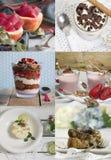 Collage dei dessert Immagine Stock