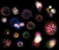 Collage dei fuochi d'artificio Immagini Stock Libere da Diritti