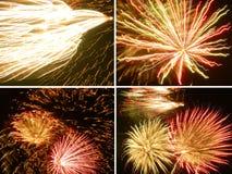 Collage dei fuochi d'artificio Fotografia Stock Libera da Diritti