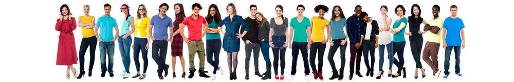 Collage dei giovani allegri casuali Fotografia Stock Libera da Diritti