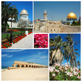 Collage dei limiti dell'Israele Fotografia Stock