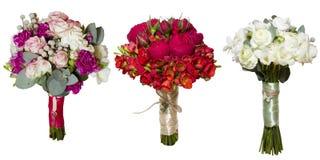 Collage dei mazzi #2 delle rose della peonia Fotografia Stock Libera da Diritti