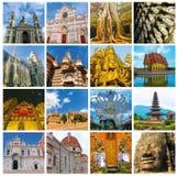 Collage dei monumenti del mondo Fotografia Stock Libera da Diritti