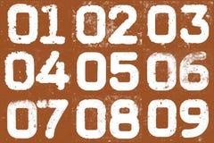 Collage dei numeri strutturali Fotografie Stock
