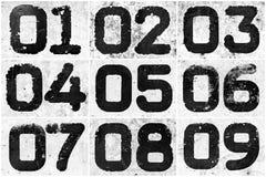 Collage dei numeri strutturali Immagini Stock Libere da Diritti