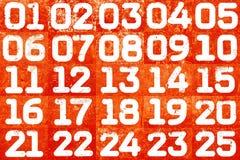 Collage dei numeri strutturali Fotografia Stock