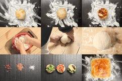 Collage dei panini e del pane deliziosi Immagini Stock Libere da Diritti