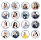 Collage dei ritratti della gente di affari fotografie stock
