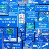 Collage dei segnali stradali Fotografie Stock
