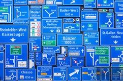 Collage dei segnali stradali Fotografia Stock Libera da Diritti