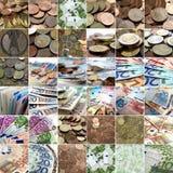 Collage dei soldi fotografia stock